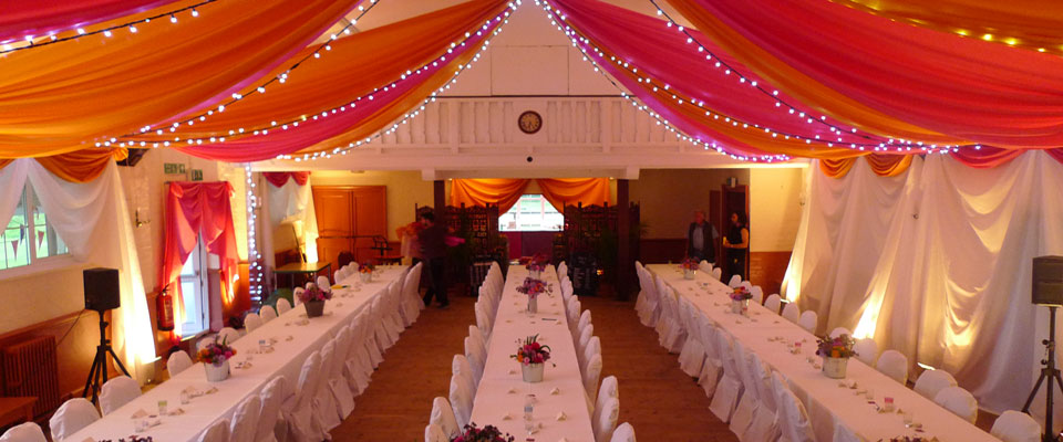 Wedding Draping In A Hall By The Complete Chillout Company UK