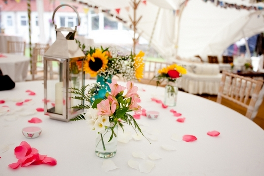Marquee wedding decoration
