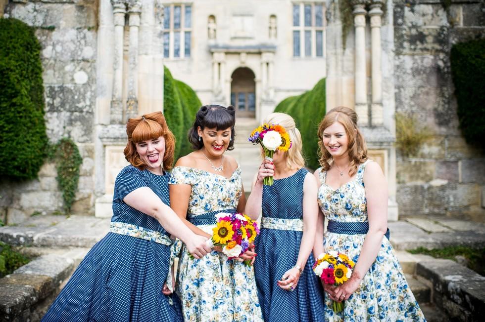 mismatching bridesmaids