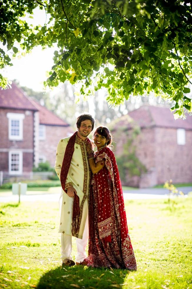 Traditional Indian wedding attire