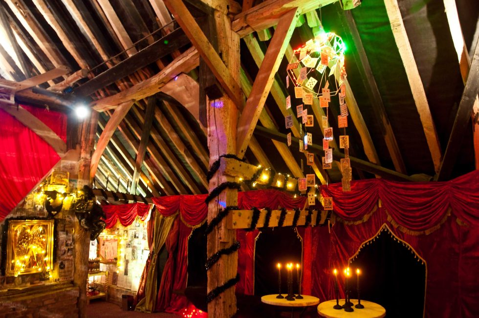 Barn with La Rouge linings. Venue Transformation